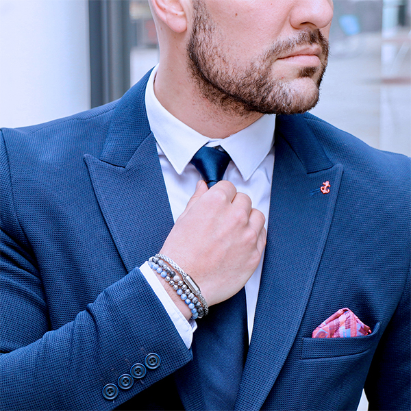 blue business look
