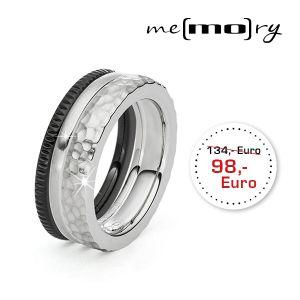 "Me(mo)ry Ringset ""black´n steel"" Bild 1"
