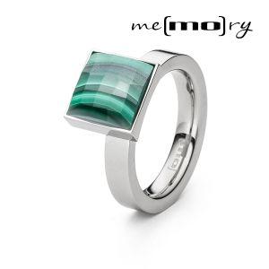 Me(mo)ry Ring, Malachit Bild 1