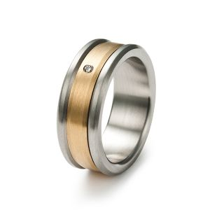 Golden Touch Drehring, Diamant Bild 1