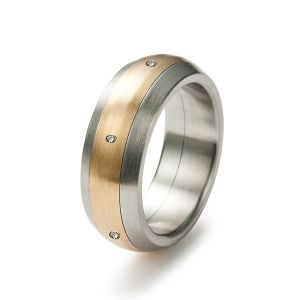 Golden Touch Drehring, Diamanten Bild 1