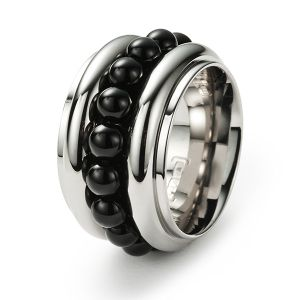 Sphere Ring, Onyx Bild 1
