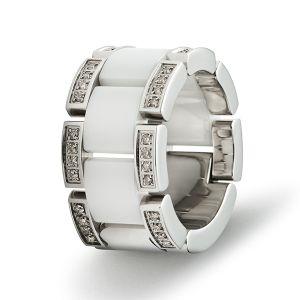 Infinity Gliederring, Keramik, Diamanten Bild 1