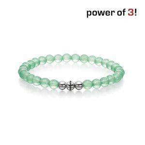 Gesamtansicht eines grünen Perlenarmbandes aus echten Aventurin-Perlen mit drei antiallergenen Edelstahlperlen   > Perlenarmband mit echten grünen Aventurin-Perlen