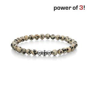 """Power of 3! Armband """"Das besondere Etwas"""", Dalmatiner Jaspis Bild 1"""