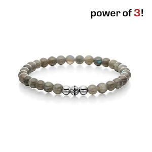 "Power of 3! Armband ""Scharfe Sinne"", Labradorith Bild 1"