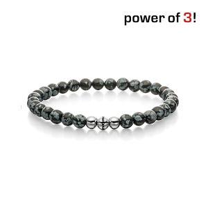 """Power of 3! Armband """"Tiefe Freundschaft"""", Schneeflocken Obsidian Bild 1"""