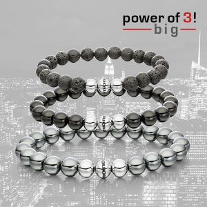"Power of 3! big Armbänderset ""Midnight"" Bild 1"