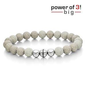 "Power of 3! big Armband ""Durchsetzungskraft"", Beton Bild 1"