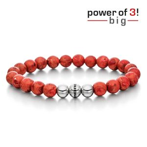 "Power of 3! big Armband ""Harmonie"", rekonstruierte Koralle Bild 1"