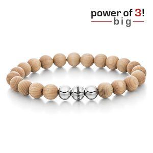 "Power of 3! big Armband ""Innere Wärme"", Ahornholz Bild 1"