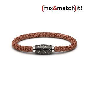 Cosmos Armband, Textil, coffee Bild 1
