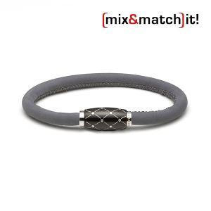 Cosmos Armband, Leder, grau Bild 1