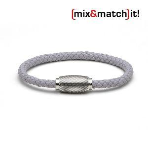 Business Rocker Armband, Leder, grau Bild 1