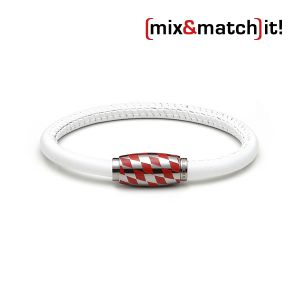 (mix&match)it! Armband, Leder, weiß Bild 1