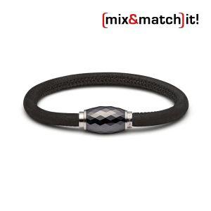 (mix&match)it! Armband, Leder, schwarz Bild 1