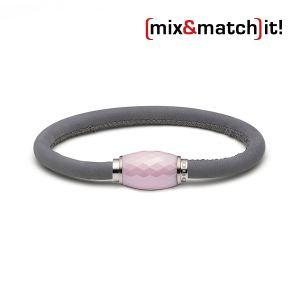 (mix&match)it! Armband, Leder, grau Bild 1