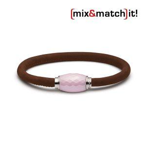 (mix&match)it! Armband, Leder, mittelbraun Bild 1
