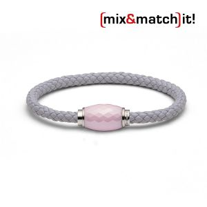 (mix&match)it! Armband, Leder, grau Bild 1