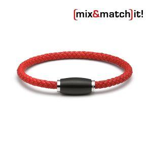 (mix&match)it! Armband, Leder, rot Bild 1