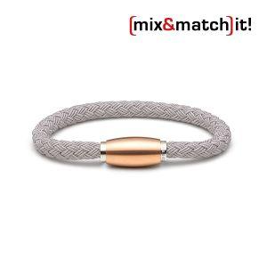 (mix&match)it! Armband, Textil, grau Bild 1
