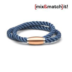 (mix&match)it! Armband, Seide, dunkelblau Bild 1