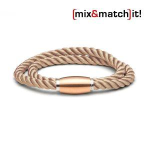 (mix&match)it! Armband, Seide, coffee Bild 1