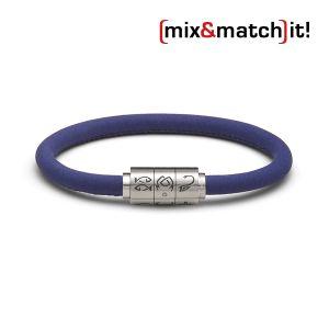 """(mix&match)it! Armband """"Krebs"""", Leder, royal blau Bild 1"""