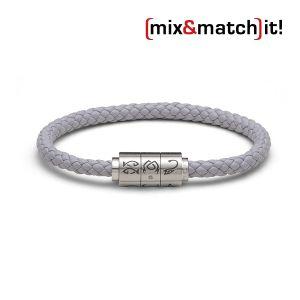 """(mix&match)it! Armband """"Krebs"""", Leder, grau Bild 1"""