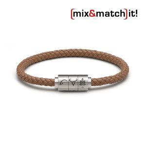 "(mix&match)it! Armband ""Jungfrau"", Leder, coffee Bild 1"