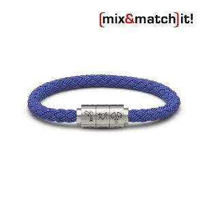 """(mix&match)it! Armband """"Waage"""", Textil, blau Bild 1"""