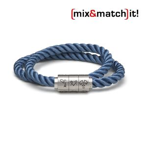 "(mix&match)it! Armband ""Waage"", Seide, dunkelblau Bild 1"