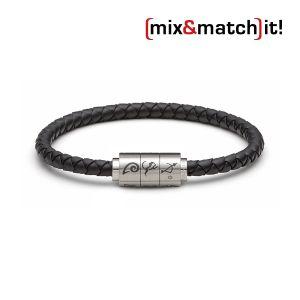 "(mix&match)it! Armband ""Schütze"", Silikon, schwarz Bild 1"