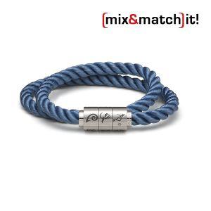 """(mix&match)it! Armband """"Schütze"""", Seide, dunkelblau Bild 1"""
