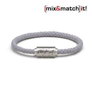 "(mix&match)it! Armband ""Schütze"", Leder, grau Bild 1"