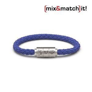"""(mix&match)it! Armband """"Wassermann"""", Textil, blau Bild 1"""