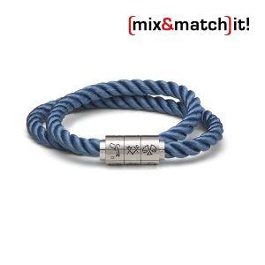 "(mix&match)it! Armband ""Wassermann"", Seide, dunkelblau Bild 1"
