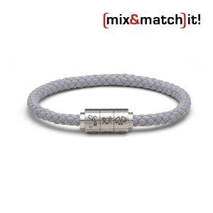 "(mix&match)it! Armband ""Wassermann"", Leder, grau Bild 1"