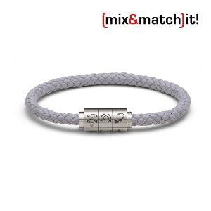 """(mix&match)it! Armband """"Fische"""", Leder, grau Bild 1"""