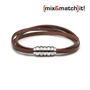 (mix&match)it! Armband, Leder, braun Bild 1