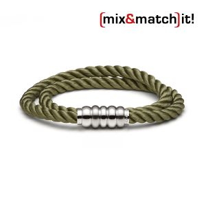 (mix&match)it! Armband, Seide, olive Bild 1