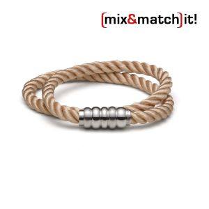 (mix&match)it! Armband, Seide, coffee Bild 1
