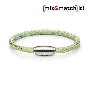 (mix&match)it! Armband, Leder, neon-grün Bild 1