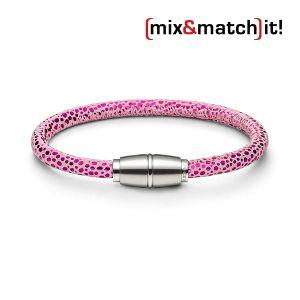 (mix&match)it! Armband, Leder, neon-pink Bild 1
