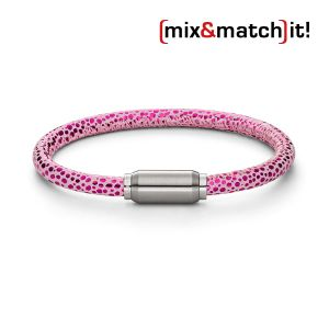 (mix&match)it! Armband, Leder, neon-pink Bild 1