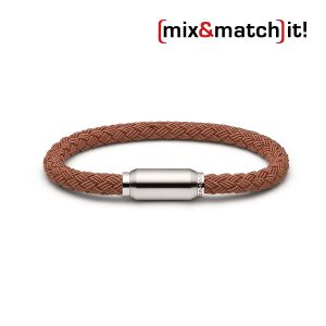 (mix&match)it! Armband, Textil, coffee Bild 1