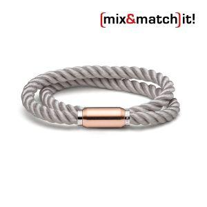 (mix&match)it! Armband, Seide, hellgrau Bild 1
