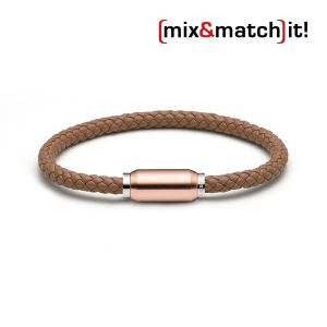 (mix&match)it! Armband, Leder, coffee Bild 1