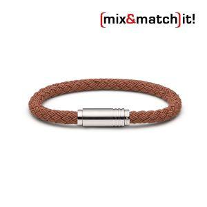 (mix&match)it! Armband, Textil, coffee Bild 1