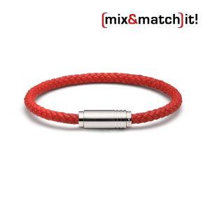 (mix&match)it! Armband, Leder, rot Bild 1